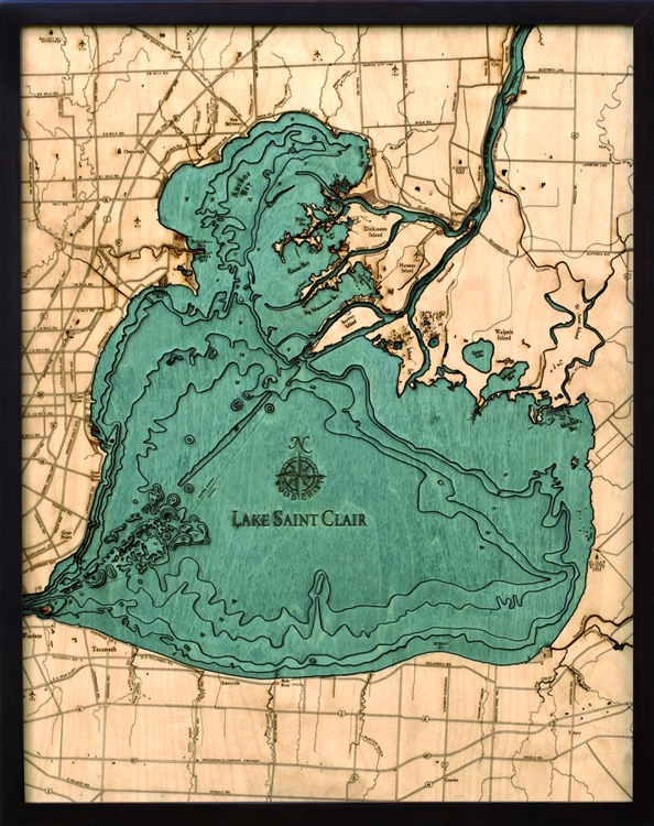 Clai D L T on Lake George Topographic Map