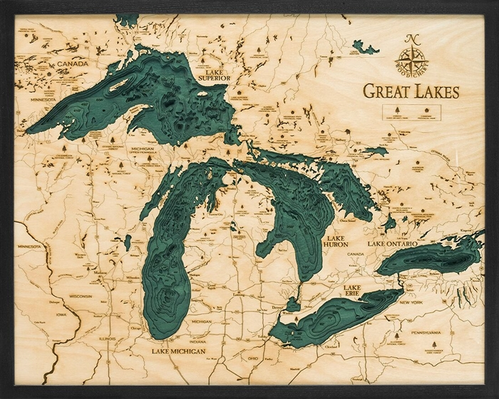 Grl D L T on Lake George Topographic Map