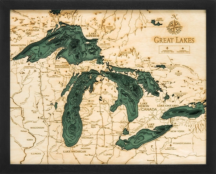 Grl D S T on Lake George Topographic Map