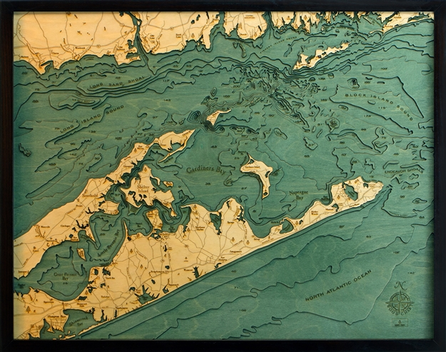 Hamp D L T on Lake George New York Map