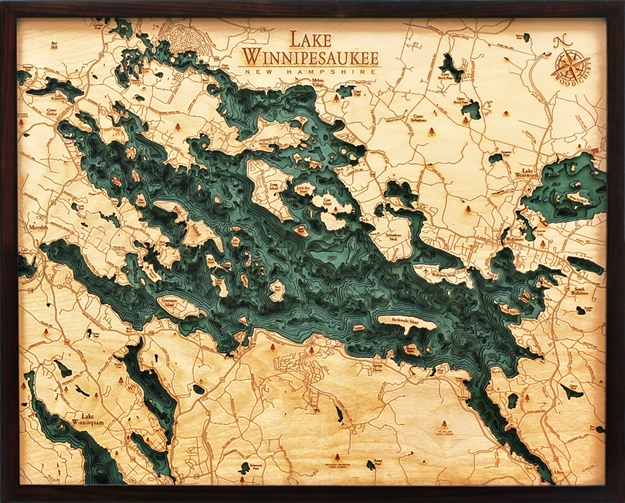 Wike D L T on Lake George New York Map